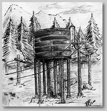 sketch of water tank - by Brian